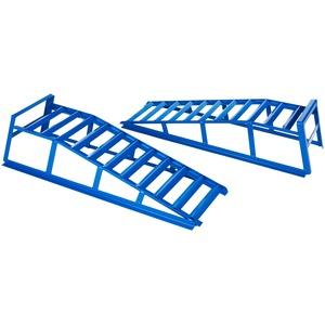 Cartrend 50156 PKW Auffahrrampen-Set, bis 225 mm Hebebühne KFZ Rampe Auffahrbock Hebeplattform mit Überfahrschutz, 2 Stück