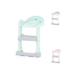 Chipolino Toilettentrainer Toilettenaufsatz, Toilettensitz, mit Leiter, Griffe, Fußstütze, kompakt grün