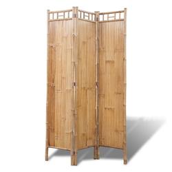 vidaXL Raumteiler Bambus Raumteiler Paravent 3-teilig