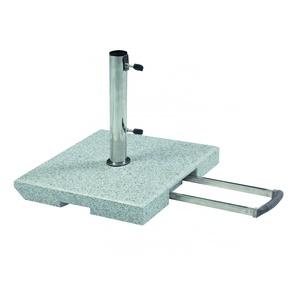 Doppler Schirmständer 40kg Granitständer - Trolley-Funktion & Rollen (DP)