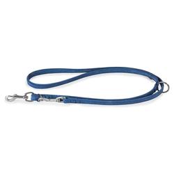Das Lederband Hunde Führleine Toronto Jeans, Maße: 200 cm / 14 mm