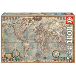 Carletto Puzzle Educa - Weltkarte 1000 Teile Miniature Puzzle, Puzzleteile