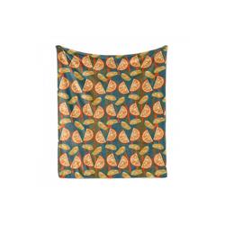 Foulard Gemütlicher Plüsch für den Innen- und Außenbereich, Abakuhaus, Früchte Zitronenscheiben auf gestreiftem Zurück 175 cm x 230 cm