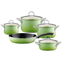 Riess Topf-Set Kochgeschirr-Set 5-tlg. Smaragd, Premium-Email, (5-tlg), Topfset