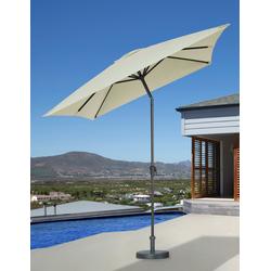 garten gut Sonnenschirm, abknickbar, ohne Schirmständer weiß Sonnenschirme -segel Gartenmöbel Gartendeko Sonnenschirm