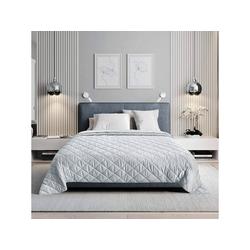 Tagesdecke, Woltu, Tagesdecke Bettüberwurf kariert grau 170 cm x 210 cm