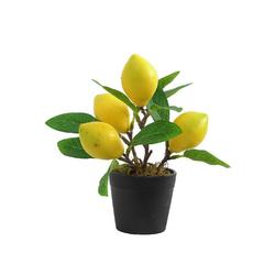 Künstliche Zimmerpflanze, Gotui, Künstlicher Obstbaum,Simulation Zitrone Bonsai,Gefälschter Zitronenbaum,Topfpflanze,Haus Dekoration