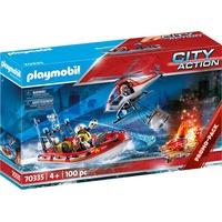Playmobil City Action Feuerwehreinsatz mit Heli und Boot 70335