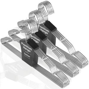 Qualsen Kleiderbügel Metall 30 Stück 42 cm Platzsparende Kleiderbügel Edelstahl Kleiderbügel Draht