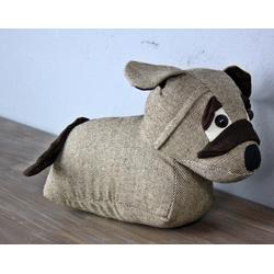 elbmöbel Türstopper Türstopper Hund braun, Türstopper: Zugluftstopper 26x18x11 cm braun hund