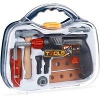 Relaxdays Spielwerkzeugkoffer Werkzeugkoffer für Kinder
