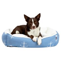Hundekörbchen Anker blau, Außenmaße: ca. 80 x 65 cm