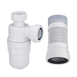 Waschbecken-Siphon und WC-Abflussrohr, von Hudson Reed