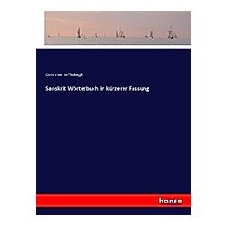 Sanskrit Wörterbuch in kürzerer Fassung