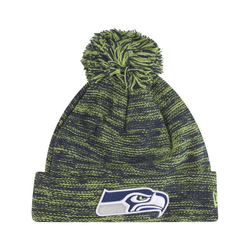 New Era Fleecemütze MARL BOBBLE Beanie Seattle Seahawks