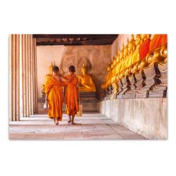 ImageLand Glasbild Digitaldruck Buddhistische Mönche, 80 x 120 cm