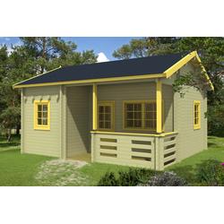 Gartenhaus Modell Falun B mit Schlafboden 70, ohne Imprägnierung