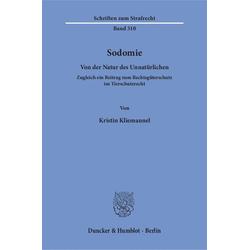 Sodomie als Buch von Kristin Kliemannel