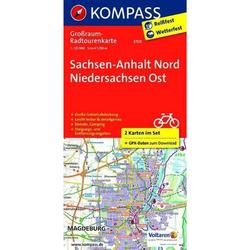 Sachsen-Anhalt Nord - Niedersachsen Ost. Großraum-Radtourenkarte 1 : 125 000 - Fahrradkarten