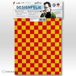 Oracover 95-033-023-B Designfolie Easyplot Fun 4 (L x B) 300mm x 208mm Gelb, Rot