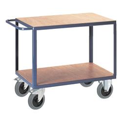 Tischwagen mit 2 Ladeflächen blau, ROLLCART, 135x92x80 cm