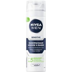 NIVEA MEN Sensitive Rasierschaum, Milder Rasierschaum für empfindliche Haut, 200 ml - Dose