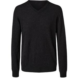 Tchibo - Cashmere-Pullover mit V-Ausschnitt - Anthrazit/Meliert - Gr.: 48
