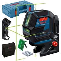 Bosch Kreuzlinienlaser GCL2-50G selbstnivellierend, grüner Laser, Halterung, Deckenklemme und Koffer
