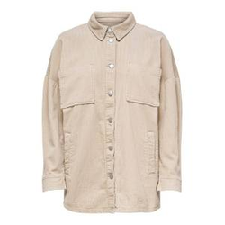 ONLY Cord Hemd Damen Beige Female M