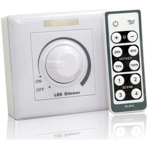 OUBO LED Dimmer Aufputz-Dimmer mit IR-Fernbedienung 10V 20-100% Helligkeitsregler(LED Dimmer)