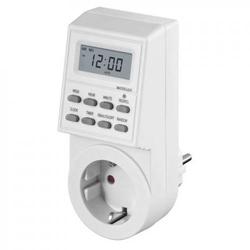 Zeitschaltuhr LCD 24 Stunden Digital mit manueller Einstellung