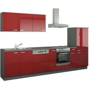 Küchenzeile mit Elektrogeräten  Coburg ¦ rot