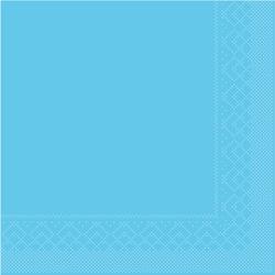 Mank Servietten aus Tissuewatte, 25 x 25 cm, 1/4 Falz, 3-lagig, 1 Karton = 2 x 1200 Stück = 2400 Stück, aquablau