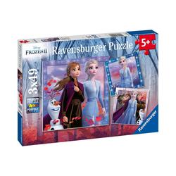 Ravensburger Puzzle 3er Set Puzzle, je 49 Teile, 21x21 cm, Frozen 2, Puzzleteile