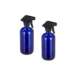 relaxdays Sprühflasche Sprühflasche Glas im 2er Set Blau