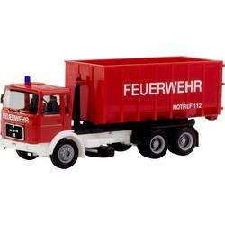 Herpa 310963 H0 MAN F8 Abrollcontainer-LKW  Feuerwehr
