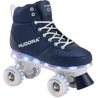 Hudora Roller Skates Advanced, navy LED, Rollschuhe Gr. 31/32