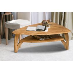 Home affaire Couchtisch Oja, ist aus massivem Eichenholz in ovaler Form, Breite 120 cm