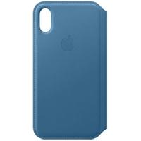 Apple iPhone XS Leder Folio Cape Cod blue
