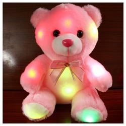 Gotui Kuscheltier, Plüschtiere,LED leuchtender Bär,Kleiner Bär,Gefüllte Puppe,Nachtlicht Bär