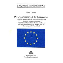 Die Zusammenarbeit der Sozialpartner als Buch von Jürgen Kämpgen