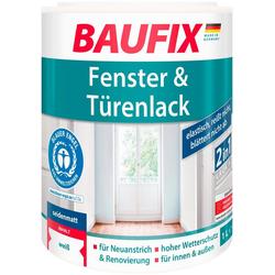 Baufix Holzlack seidenmatt, 1 Liter, weiß