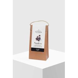 Café Tasse Kaffeebohnen Santos mit Zartbitterschokolade 50%