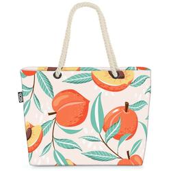 VOID Strandtasche (1-tlg), Pfirsich Sommer Beach Bag Küche Orange Pfirsich Südfrüchte Saft Pfirsichbaum