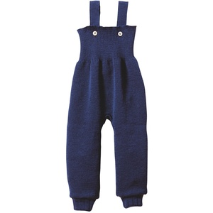 Disana 33104XX - Strick-Trägerhose Wolle marine, Size / Größe:50/56 (0-3 Monate)
