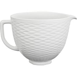 KitchenAid Küchenmaschinenschüssel 5KSM2CB5TLW, 4,7-L-Keramikschüssel, Keramik, für KitchenAid-Küchenmaschinen mit kippbarem Motorkopf