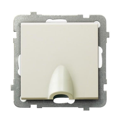 Kabelanschluss - Steckdose ecru Ospel Sonata GPPK-1R/m/27
