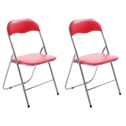 CLP Klappstuhl Klappstuhl Felix (Set), klappbar, pflegeleicht, gepolstert rot