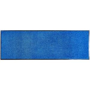 ASTRA hochwertige Schmutzfangmatte – waschbarer Fußabstreifer – robust – langlebige Türmatten – für den Innenbereich – blau – 90 x 250 cm