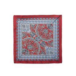 Lavard Weinrotes Einstecktuch mit einem blumen Muster 57166